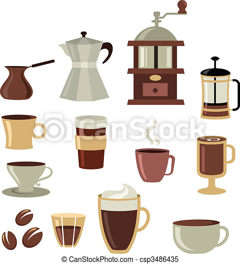 Coffee icons set - 3 - csp3486435