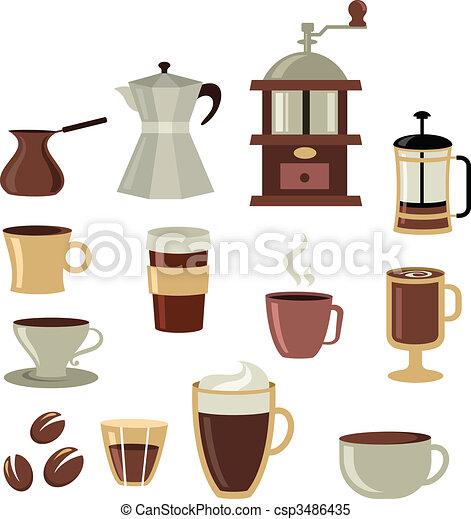 Coffee icons set - 3 - csp3486435