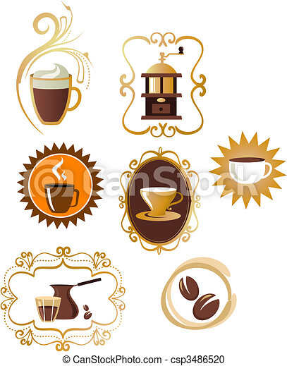 Coffee icons set - 4 - csp3486520