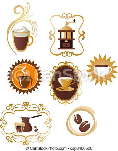 Coffee icons set - 4 - csp3486520