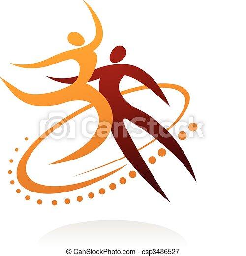 Dancing couple  - 1 - csp3486527