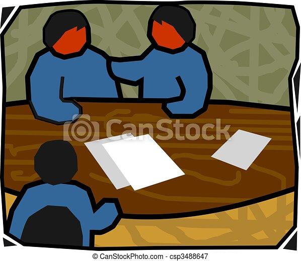 people in meeting  - csp3488647