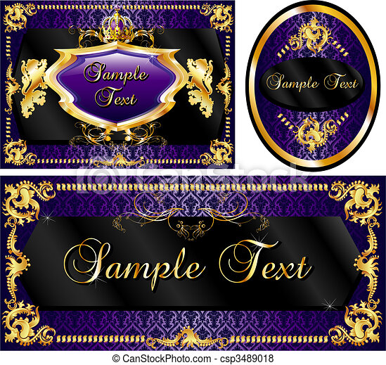 Royal Template Set Purple - csp3489018
