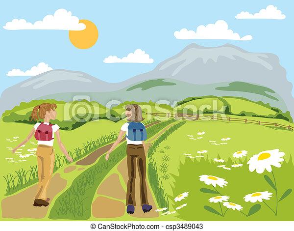 hiking  - csp3489043