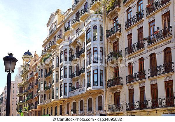 Stock de fotos de c ntrico valencia calle ciudad - Calle castello madrid ...