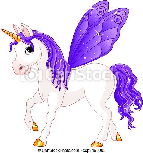Fairy Tail Violet Horse - csp3490005