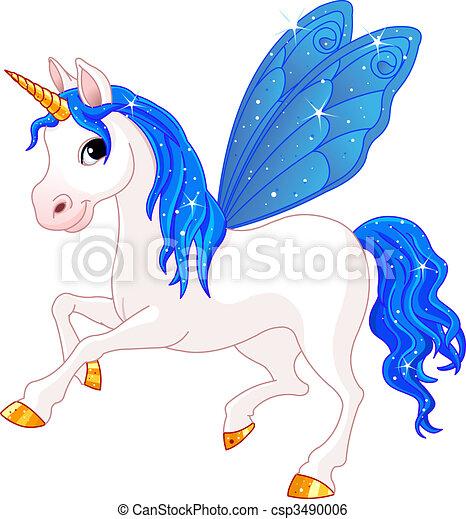 Fairy Tail Indigo Horse - csp3490006