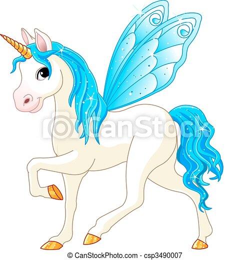 Fairy Tail Blue Horse - csp3490007