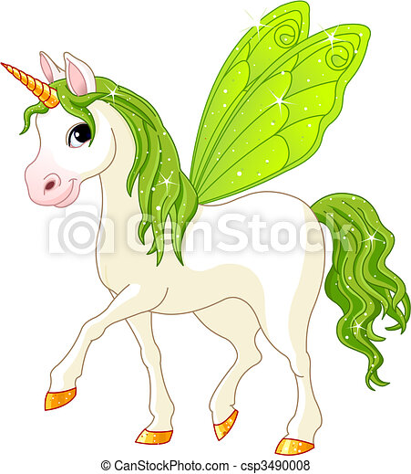 Fairy Tail Green Horse - csp3490008