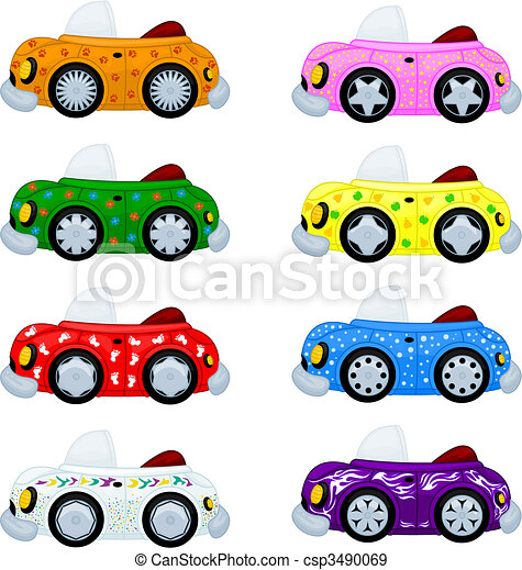 Cartoon cars - csp3490069