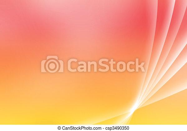 Orange Soothing Vista Curves - csp3490350