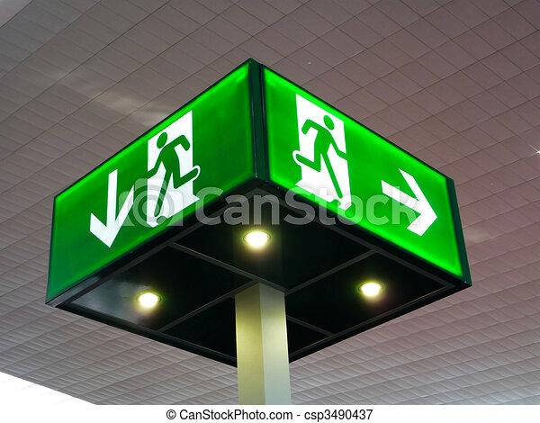 Emergency exit sign - csp3490437