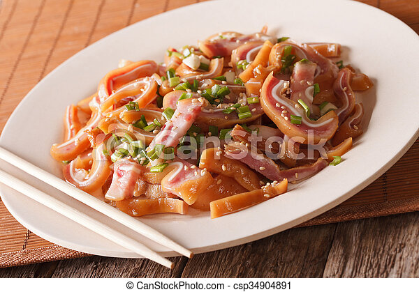 Stock Photographs of Asian food: pig ears with sesame seeds and ...