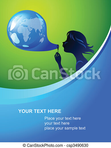 Earth bubble template - csp3490630