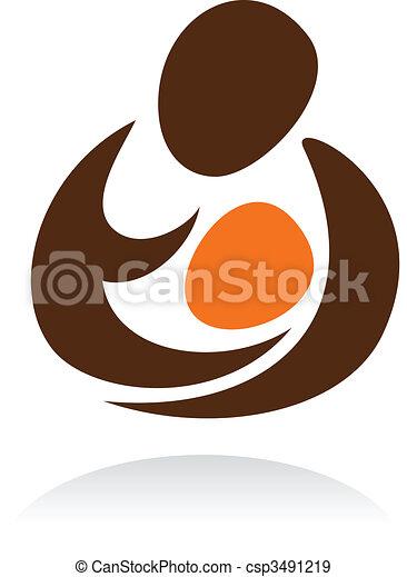 Motherhood icon - csp3491219