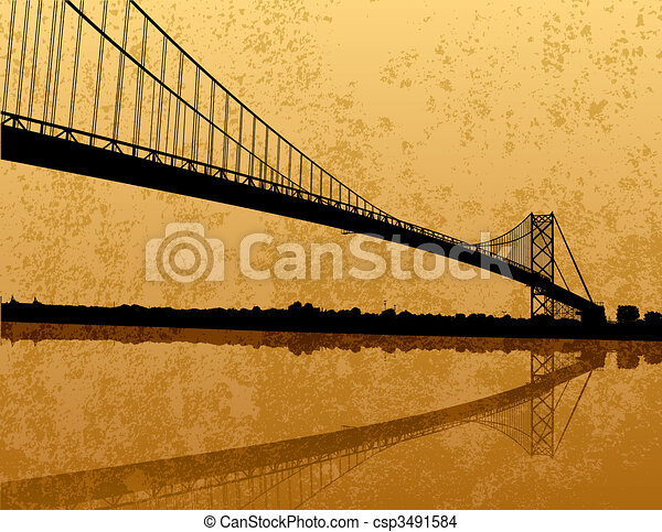 Ambassador Bridge - csp3491584