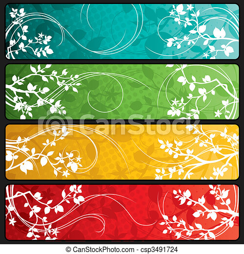 Spring Banners - csp3491724