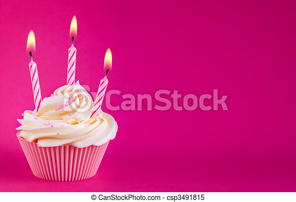 Birthday cupcake - csp3491815