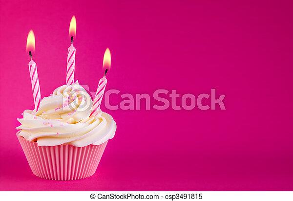 Birthday cupcake - csp3491815