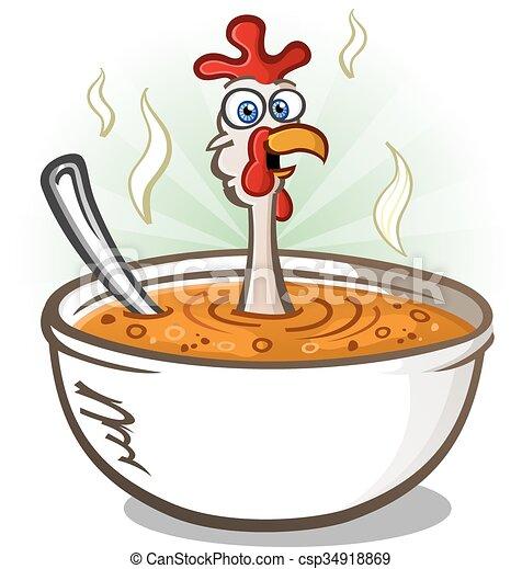 clip art de vectores de sopa  pollo  car u00e1cter  caricatura un  caliente  taz u00f3n  de bowl of soup black and white clipart bowl of soup black and white clipart