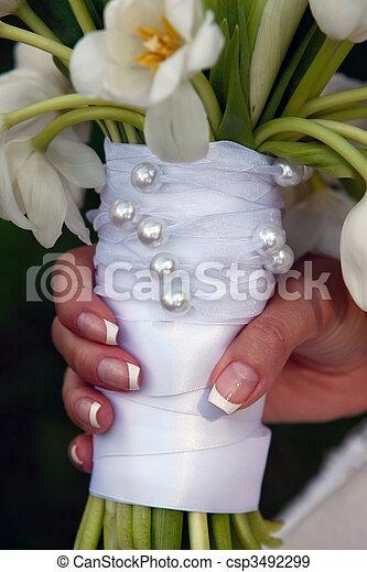 fiori, matrimoni, usato - csp3492299