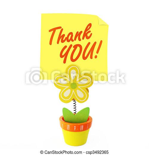 Saying thank you - csp3492365