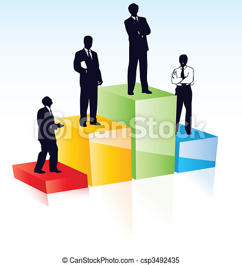 Vector silhouettes of managers - csp3492435