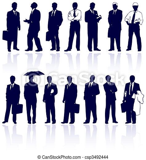 Set of vector business people - csp3492444