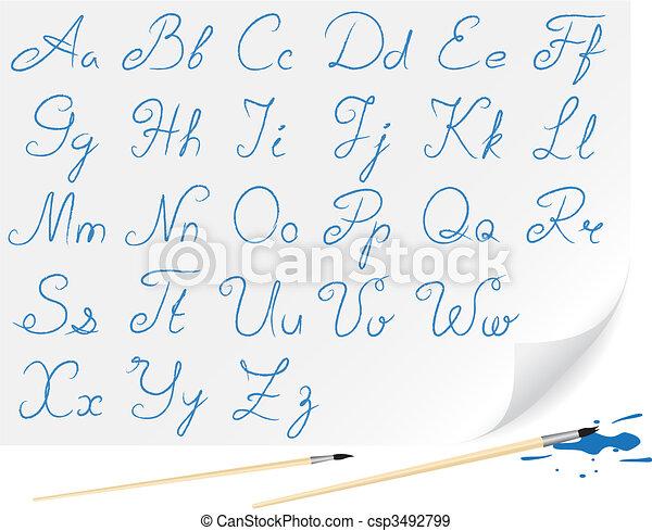 Drawing alphabet - csp3492799