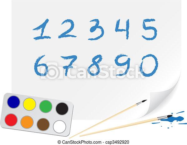 Drawing digits - csp3492920