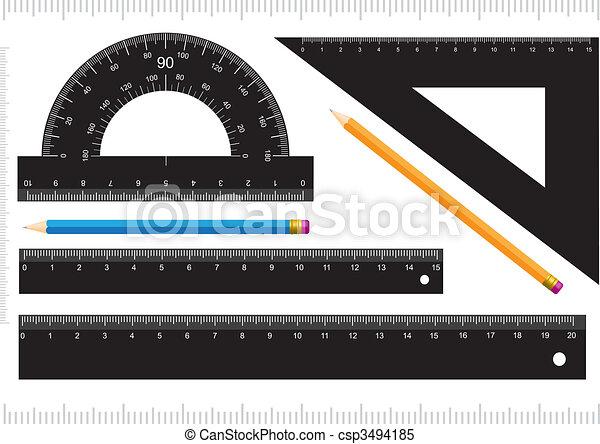 Black ruler - csp3494185