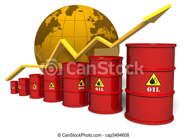 Oil trading concept - csp3494608