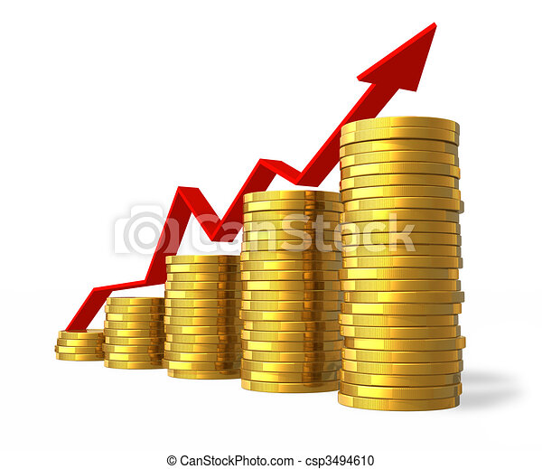 Financial success concept - csp3494610