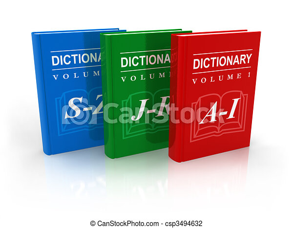 Clip Art of 3-volume dictionary csp3494632 - Search Clipart ...