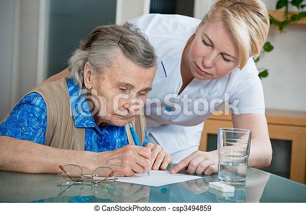 nursing home - csp3494859