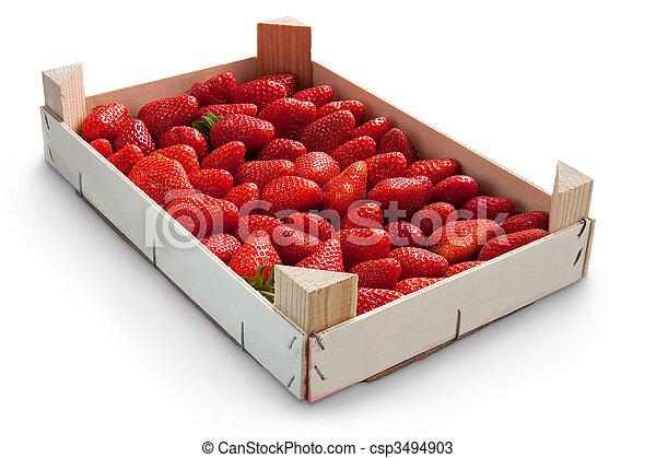 Stock de fotos de caja fresas fresas en caja - Cajas para fotografos ...