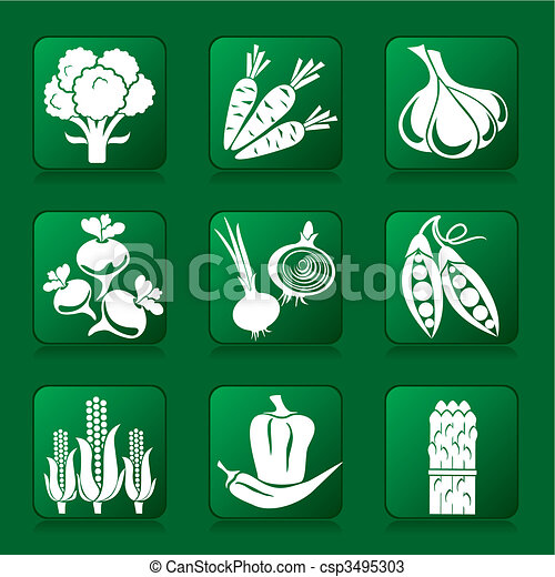 vegetables icons - csp3495303