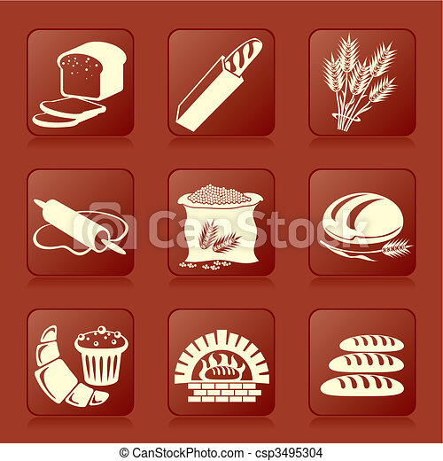bread and pastry - csp3495304