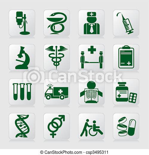 medical symbols - csp3495311
