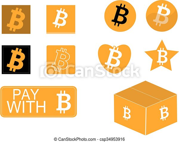 Bitcoin icon set - csp34953916
