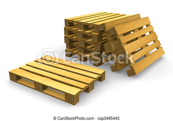 Shipping pallets - csp3495443