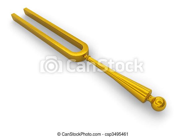 Retro tuning fork - csp3495461