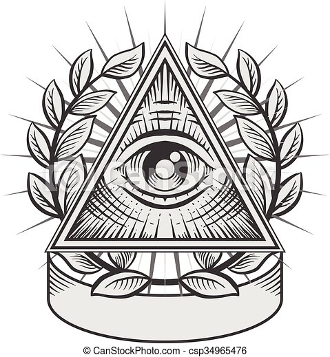 All seeing eye - csp34965476