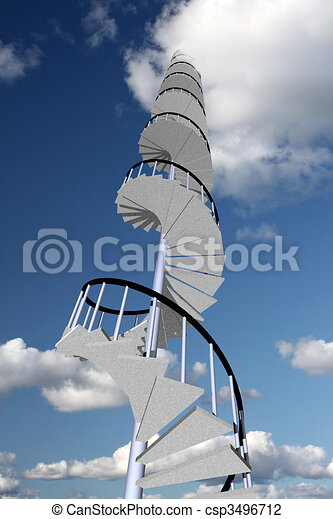 Stairway to skyhigh success - csp3496712