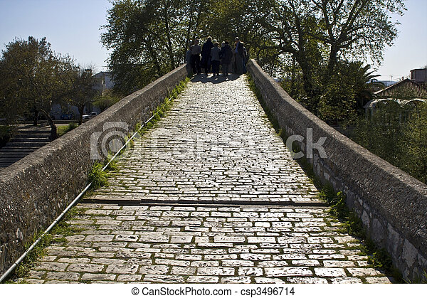 Historic stone bridge of Arta at Greece - csp3496714
