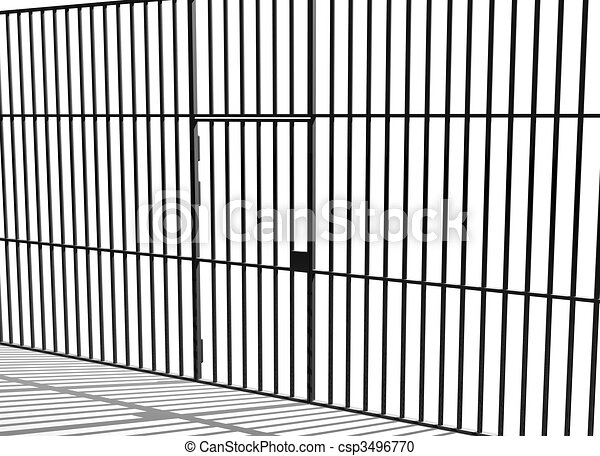 Prison bars - csp3496770