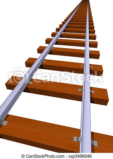 Railway track - csp3496946