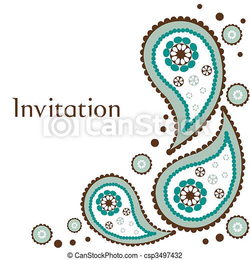 wedding invitation cards clipart