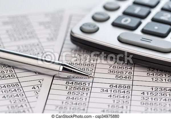 calculadoras,  statistk - csp34975880