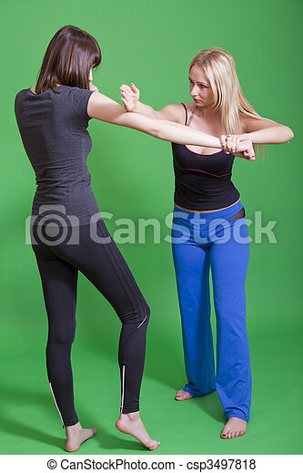 woman self defence - csp3497818